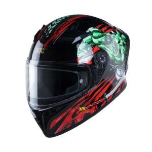 Mũ Fullface ROC R01 Tem V1 Đen Đỏ Xanh Bóng