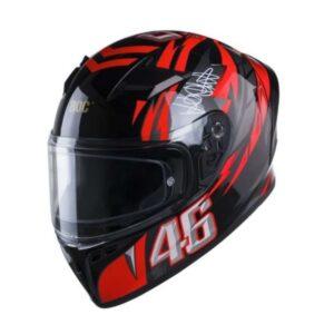 Mũ Fullface ROC R01 Tem V3 46 Đen Đỏ