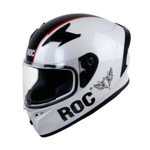 Mũ Fullface ROC R01 Tem V8 Trắng Đen