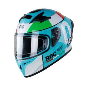Mũ Fullface ROC R01 Leopard Xanh Ngọc